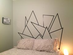 Washi tape headboard but use different colors