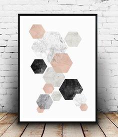 Abstract watercolor, pink gray print, marble print, nordic design, home decor… Abstract Geometric Art, Abstract Wall Art, Abstract Watercolor, Abstract Print, Pink Watercolor, Home Decor Colors, Colorful Decor, Minimalist Poster, Minimalist Art
