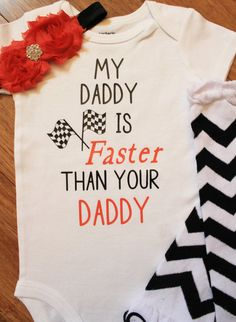 racing onesie race onesie racing outfit racing by BandtasticKraze Renn-Strampler Renn-Strampler Renn-Outfit von BandtasticKraze Baby Shirts, Onesies, Girl Onsies, Racing Baby, Expensive Sports Cars, Races Outfit, Baby Time, Baby Boutique, Baby Fever