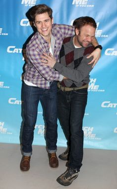 Aaron Tveit and Norbert Leo Butz. Grateful to have have seen them on Broadway together <3