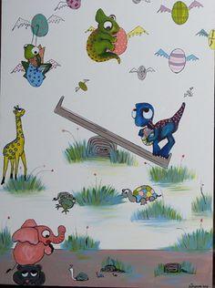 "Saatchi Art Artist Ta Thimkaeo; Painting, ""Sold Animal Playground"" #art"