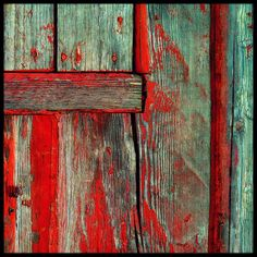 Weathered Wood - the pop of red with the turquoise is nice Background For Photography, Abstract Photography, Peeling Paint, Aqua, Turquoise, Old Doors, Weathered Wood, Texture Art, Textures Patterns