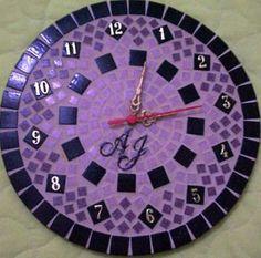 Relógio de Parede 3 - Mosaico com tesselas de cerâmica.