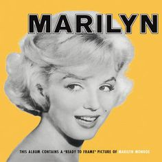 Marilyn Monroe Marilyn on Vinyl LP Released in 1962, the same year that America's obsession died of an overdose of barbiturates in her Brentwood home, this Marilyn Monroe release compiles her tunes fr