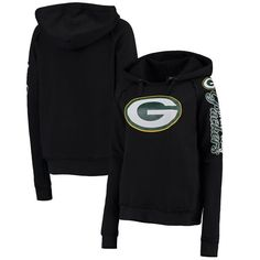 Green Bay Packers 5th and Ocean by New Era Women's Snap Count Pullover Hoodie – Black - $49.99