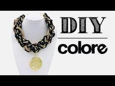 DIY Collar Trenzado Cadena y Dije con Cristal - Colore Accesorios