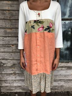 Marta dress-medium large-artsy-Eco Clothing-Upcycled