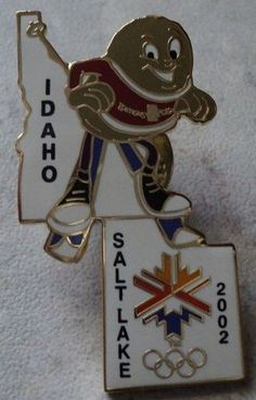 Idaho Salt Lake 2002 State Olympic Games Pin Olympics Tack Hat Lapel Pin - This Item is for sale at LB General Store http://stores.ebay.com/LB-General-Store ~Free Domestic Shipping