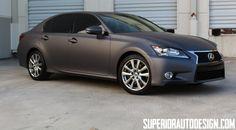 New #Lexus GS 350 Gets Matte Dark Grey Wrap [Photo Gallery]