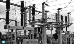 A typical layout of a generating, transmission and distribution network of a large system would be made up of elements as shown by a single-line diagram Single Line Diagram, Electrical Substation, Power Lineman, Electrical Engineering, High Tension, Layout, World, Surrealism, Portal