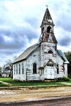 abandoned church in Kansas, USA