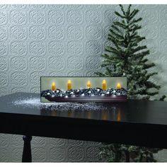 Lighted Small White Christmas Canvas #christmas