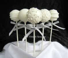 #Cake #Pops for #Winter #Wedding Dessert Table