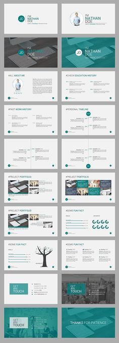 """""""JD Personal (CV Resume) Powerpoint Presentation Template"""" is a Simple but Amazing Personal Portfolio PowerPoint presentation Template for any corporate or business person. Its a great way to brand yourself in front of the client or any other busi… Ppt Design, Design Brochure, Slide Design, Powerpoint Presentation Templates, Keynote Template, Booklet Design, Design Layouts, Design Posters, Flyer Template"""