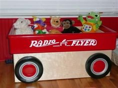 Red Wagon Toy Box. $200.00, via Etsy.