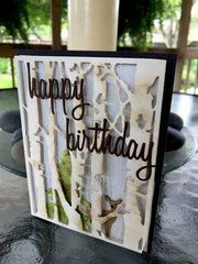 Project Ideas for Sizzix - Tim Holtz - Alterations Collection - Christmas - Thinlits Die - Birch Trees Birthday Cards For Men, Happy Birthday, Male Birthday, Kids Fall Crafts, Paper Tree, Making Greeting Cards, Masculine Cards, Paper Cards, Embossing Folder