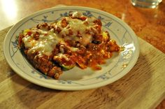 Low-Fat Low-Carb Healthy Lasagna for One!