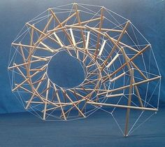 Tensegrity model example: Could be used as hanging art. Module Design, 3d Design, Abstract Sculpture, Sculpture Art, Contemporary Architecture, Architecture Design, Arch Model, Modelos 3d, Math Art