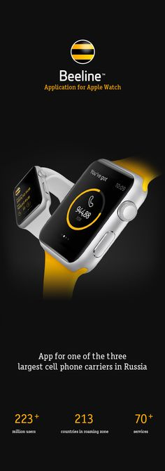Beeline Apple Watch App on Behance