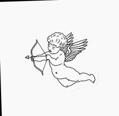 Cupid Tattoo, Cherub Tattoo, Mini Tattoos, Body Art Tattoos, Small Tattoos, Tatoos, Tatouage Ultras, Traditional Tattoo Art, Muster Tattoos