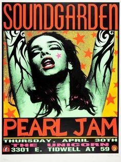 Soundgarden/Pearl Jam Frank Kozik poster