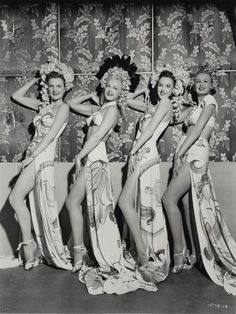 The Studio Commissary - Header picture for for theme week to Life Upon The Wicked Stage; Girls of the Chorus & Showgirls. Cabaret, 1940s Fashion, Vintage Fashion, Vintage Style, Vintage Inspired, Vintage Burlesque, Vintage Dance, Vintage Tiki, 1940s Hairstyles