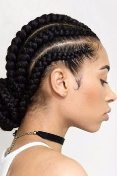 85 Box Braids Hairstyles for Black Women - Hairstyles Trends Cornrows Natural Hair, Protective Hairstyles For Natural Hair, Braided Hairstyles For Black Women, Cornrows Braids For Black Women, Box Braids Hairstyles, African Hairstyles, Hairstyles 2016, Teenage Hairstyles, Goddess Hairstyles