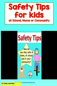 Safety Tips: After reading books and discussing how to be safe at home, school, and in the community, children will answer writing prompts. This is perfect for back to school or any time of the year as we teach children to be safe. Students will share what they know about school safety, bus safety, germs, hand-washing, fire safety, bike safety, internet safety, water safety, playground safety, kitchen safety Bus Safety, School Safety, Water Safety, Fire Safety, Safety Tips, Hands On Activities, Classroom Activities, Kindergarten Literacy, Reading Books