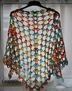 All of a treble shawl pattern by alison henshaw This is a top down shawl using any weight yarn and hook which can be made. Crochet Prayer Shawls, Crochet Shawls And Wraps, Crochet Scarves, Crochet Clothes, Crochet Vests, Crochet Edgings, Crochet Shirt, Knitted Shawls, Crochet Motif
