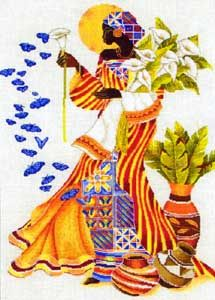 A Jurubeba Cultural: Keith Mallett *.A Arte Afro-Americana. Black Women Art, Black Art, Cross Stitch Kits, Cross Stitch Patterns, African American Art, American Artists, Arte Black, African Theme, Art Vintage