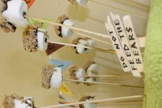 My S'mores pops from Oliver's camp-out birthday party!
