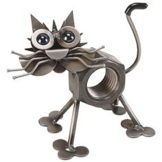 Chubby Nut Cat Sculpture, Cat-Sculptures-Statues, K64 - AllSculptures.com