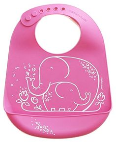 cb3034ddb2a moderntwist Baby Silicone Bucket Bib Elephant Hugs Pink     Want additional  info  Click