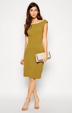 ASOS(エイソス) の女性らしい奇麗なラインを表現してくれるペンシルドレス (Love Textured Pencil Dress)です。通販だからできる割引価格でお届けします。