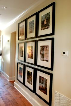 I love square frames.  I take photos everywhere I go and send them to mpix who prints them gorgeously then I hang them on my walls.  Great way to show off where you have been!