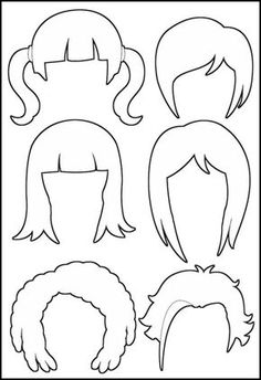 MakingFriends Superhero Paper Dolls Hair Outline Different hairstyles to create a variety of looks for your Girl Scout superhero paper dolls. Diy And Crafts, Crafts For Kids, Paper Crafts, Fabric Dolls, Paper Dolls, Paper Doll Craft, Paper Doll Template, Paper Doll Costume, Felt Doll Patterns