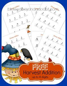 Dictionary Skills Worksheet Excel Homeschool Math Blog Free Math Worksheets For Grades   For  Early Childhood Worksheets with Math Worksheets For First Grade Addition And Subtraction Excel Free Harvest Addition Worksheets Up To Four Digits  Frugal Homeschool  Family Financial Goal Worksheet Word