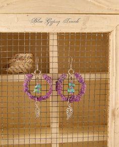 Purple Dangle Earrings by Bluegypsytrunk on Etsy