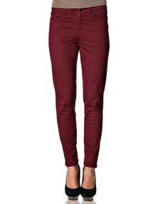 Dżinsy Kaffe - bordowy / maroon jeans