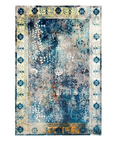 Look at this Blue Dotty Rug on #zulily today!