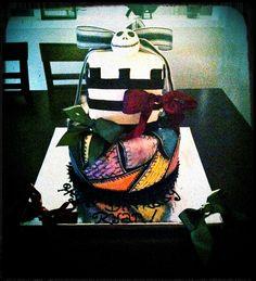 Nightmare Before Christmas birthday cake.  Cake by: Bella Baby Cakes