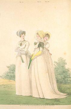 Group of ladies. Heideloff's gallery of fashion 1801