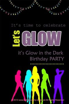 glow in the dark or Black light birthday party :::some good ideas:::