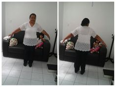 Creación es  Adela Garfias ( blusa  Ely.)