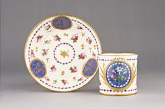 Charming Sevres cup and saucer 1781