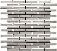 "Dove Gray Brick 5/8"" x 2-3/4"" Glazed Premium Mosaic Tile"