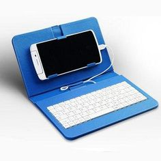 NewChic - NewChic General Wired Keyboard Flip Holster Case Holder For Android Mobile Phone 4.2''-6.8'' - AdoreWe.com