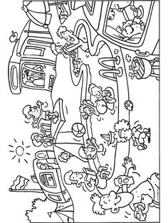Kleurplaat Camping met een heerlijk zwembad voor kinderen - Kleurplaten.nl Summer Coloring Pages, Coloring Book Pages, Coloring Pages For Kids, Coloring Sheets, Rainy Day Activities, Summer Activities For Kids, Contexto Social, Sequencing Pictures, Cute Clipart