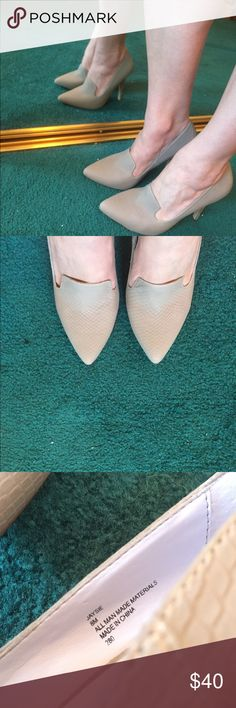 """Like New """"Cinderella"""" Heels I got these off Shoemint because, look at them!   But unfortunately, I only wore them around the house, the toe is a bit narrower than I'm used to.  I call them Cinderella shoes, because that's what I think of looking at them, very regal, very ball gown appropriate 👸🏻 Shoemint Shoes Heels"""