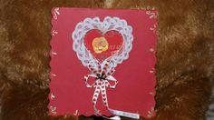 Valentine's day heart card. Tarjera de corazón para San Valentin.